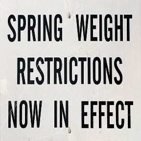 Weight restriction