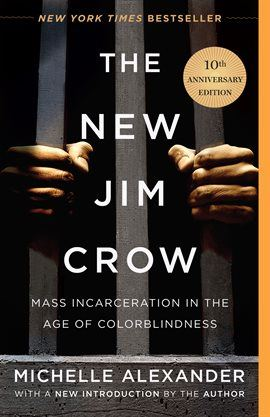 book cover new jim crow person behind bars